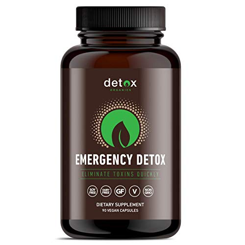 Detox Organics Activated Charcoal Capsules – Alleviates Stomach Bloating & Provides Gas Relief – Promotes Natural…