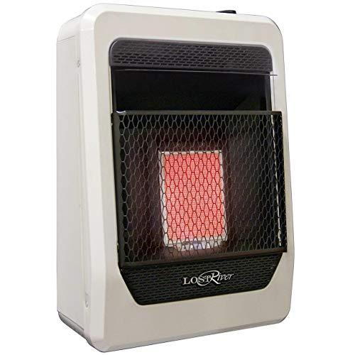 Lost River Liquid Propane Gas Ventless Infrared Radiant Plaque Heater - 10,000 BTU, Model# LR1TIR-LP