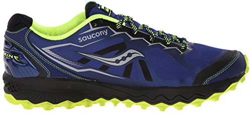 Saucony Peregrine 6 - Scarpe da Trail Running Uomo, Blu (Blue (Blue/Citron/Black) Blue/Citron/Black), 46 EU