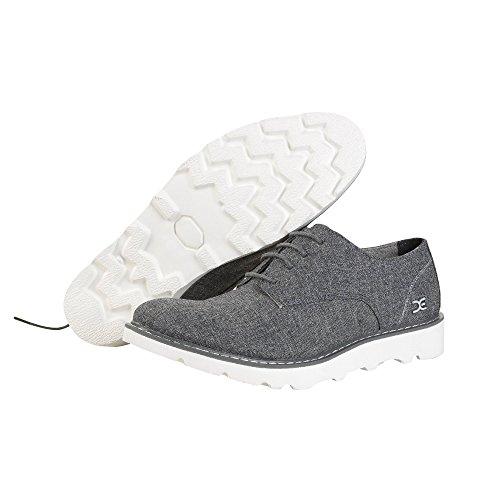 Dude Shoes Mens Verona Linen Fumo Derby Shoe Grey