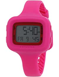 Converse Women's VR025615 Understatement Classic Digital and Pink Silicone Strap Watch