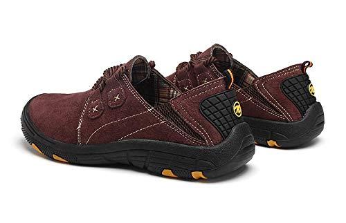 Taille Dad Plein Sneakers Randonnée Casual en pour Coffee Low Shoes en Chaussures Koyi Grande Cuir Hommes Air Confortable Help qwgPaR7
