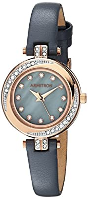 Armitron Women's Quartz Metal and Leather Dress Watch, Color:Grey (Model: 75/5542GMRGGY)