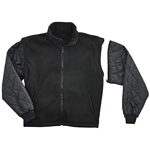 Ergodyne GloWear 8381 High Visibility Reflective Bomber Jacket with Zip-Out Black Fleece, Large, Lime by Ergodyne (Image #3)