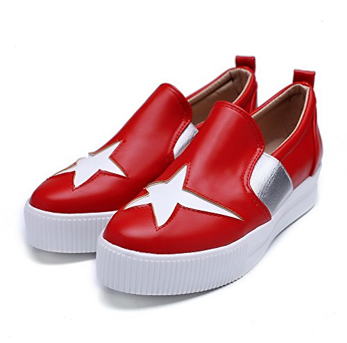 shoes imitation pumps Mesdames graffiti couleurs assorties red balamasa cuir Motif q4wp7n86