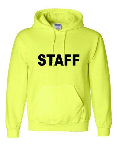 Go All Out XXXX-Large Safety Green Adult Staff Sweatshirt Hoodie