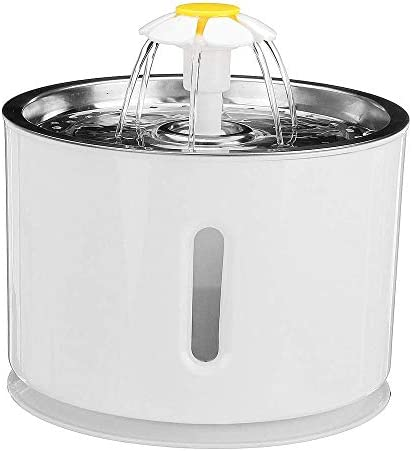 Dmqpp Pet Waterer Pet Waterer Automatik Wassertrinkbrunnen Feeder Removable Pet Wasserspender mit Wasserpumpe LED-Licht Leicht zu Water and Clean (Color : Gray, Size : One Size)