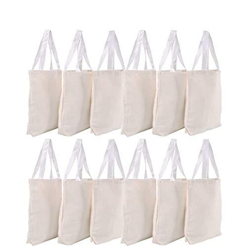 Canvas Tote Bags - Bulk 12 Pack 13