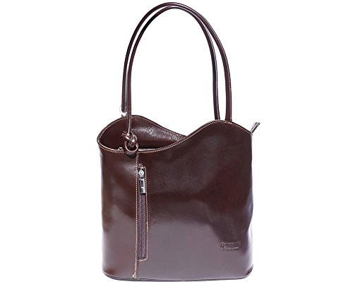 Florence Leather 207 - Bolso mochila para mujer Brown & Dark Brown marrón oscuro