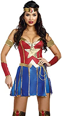 I-CURVES Ladies Wonder Woman 3 Piezas Disfraces cousume Talla XL ...