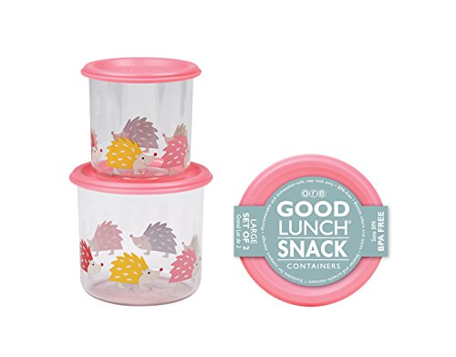 Sugarbooger Good Lunch Large Snack Container, Hedgehog, 2 Count by SUGARBOOGER