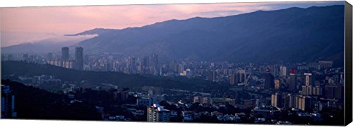 Caracas, Venezuela 2010 by Panoramic Images Canvas Art Wall Picture, Museum Wrapped with Black Sides, 30 x 11 -