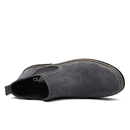 LILY999 Antiscivolo Neve Top all'aperto Caldo Chelsea Stivali da Stivali High Uomo Grigio rwCqRAxvWr