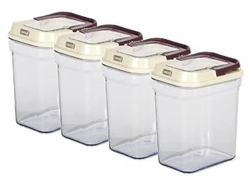 Vorratsbehälter 4 x lurch 220550 easy lock vorratsbehälter eckig je 1 liter
