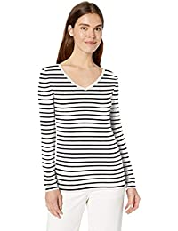 Amazon Brand - Daily Ritual Women's Jersey Long-Sleeve V-Neck T-Shirt