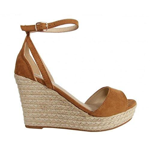 REFRESH Zapatos de cuña de Mujer 62011 ANT CAMEL