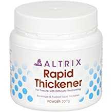 Altrix Rapid Thickener Powder for Liquids, Food, Drink - Perfect for Dysphagia, People with Swallowing Difficulty or After Stroke (300 grams / 10.58 oz), Free Downloadable Recipe Book.