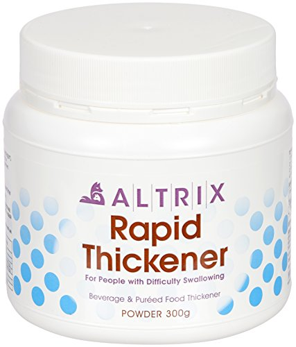 Altrix Rapid Thickener Powder for Liquids, Food, Drink - Perfect for Dysphagia, People with Swallowing Difficulty or After Stroke (300 grams/10.58 oz), Free Downloadable Recipe Book. - Resource Honey