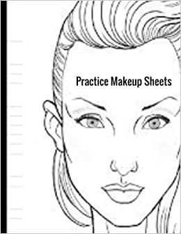 practice makeup sheets female faces large notebook ayens m