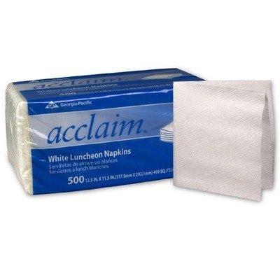 - (500 per Carton) Acclaim Luncheon 1-Ply in White Napkins