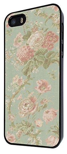 564 - Cute Vintage shabby Chic Floral Roses Pink Design iphone 4 4S Coque Fashion Trend Case Coque Protection Cover plastique et métal - Noir