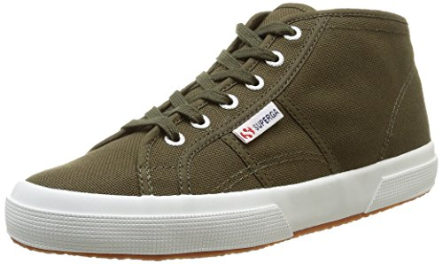 Superga 2754 COTU - Zapatillas Unisex Verde  (595 Military Green)