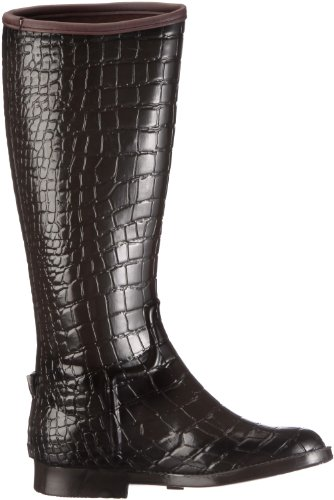 BE ONLY BOTTE CAVALIERE CROCO MARRON BOTTE CAVALIERE CROCO MARRON - Botas de caucho para mujer Marrón