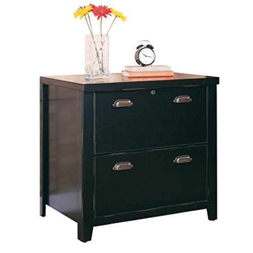 Kathy ireland Home by Martin Tribeca Loft Black 2-Drawer Lateral File Cabinet - Fully Assembled