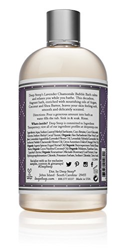 Deep Steep Bubble Bath, Lavender Chamomile, 17 Ounces