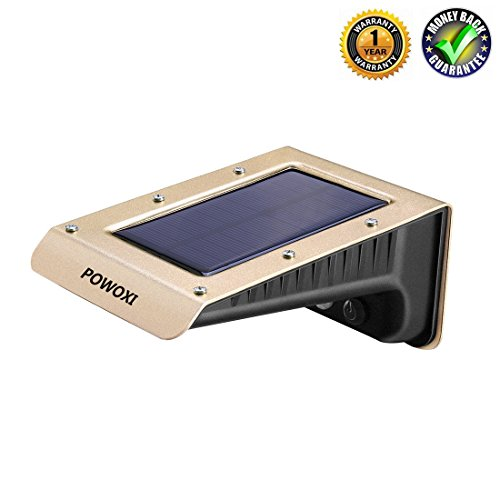 28 LED Solar Lights Outdoor Super Bright Motion Sensor Lights Wireless Waterproof Security Lights for Wall, Driveway, Patio, Yard, Garden, with Motion Activated (PW4-28LED-J)