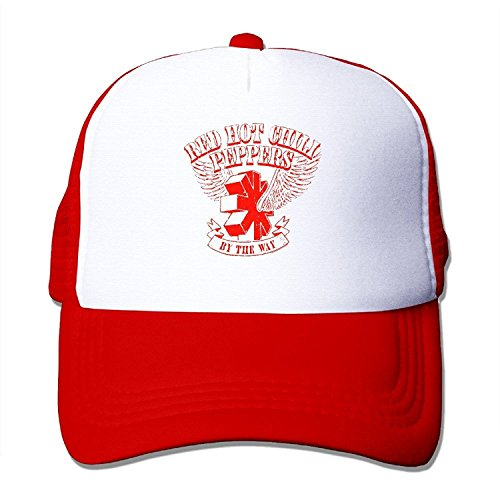 Cute Mesh Adjustable Caps Red Hot Chili Peppers Anthony Kiedis RHCP Cool Snapback Hat Beanies (Wyatt Mesh)