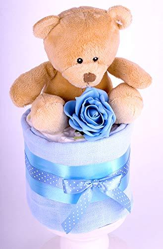 Baby Dusche Geschenk /Schnell /& kostenlose Lieferung. Blau Baby-Geschenkkorb/ Baby Jungen MINI STAR Windeltorte