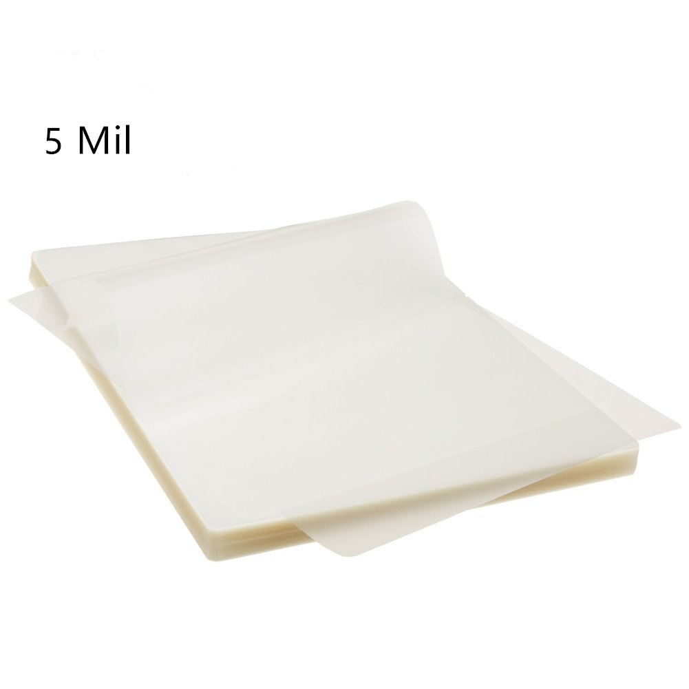 Hybsk Thermal Laminating Pouches, 5 Inches x 7 Inches, 5 Mil Thick, Hot Clear Glossy (100 Pack)