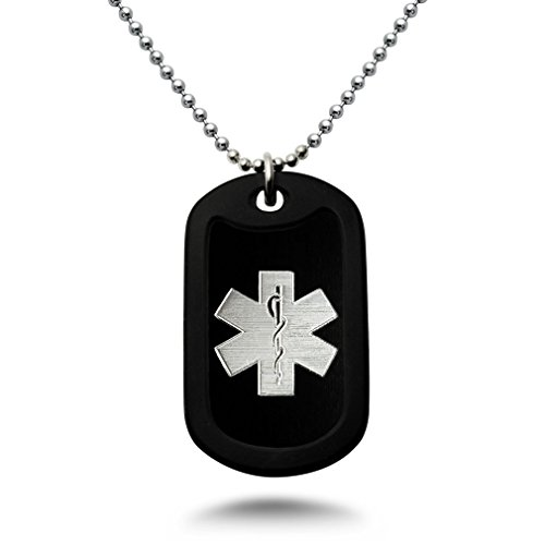 Engraved Medical Necklace - 3
