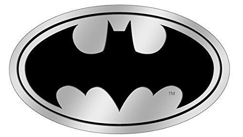 DC Comics Batman Logo on Silver STICKER, Original Licensed Symbol on Embossed METAL STICKER - Large 3.5' Inches Original Licensed Symbol on Embossed METAL STICKER - Large 3.5 Inches Officially Licensed & Trademarked Products S-DC-0103-M