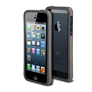 Poetic Up-Tempo Bumper With Leather Grip Case for iPhone 5 / iPhone 5S Grey/Black