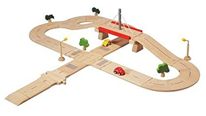 Amazon PlanToys PlanCity Road System Deluxe Toys Games – Plan Toys Garage Road System