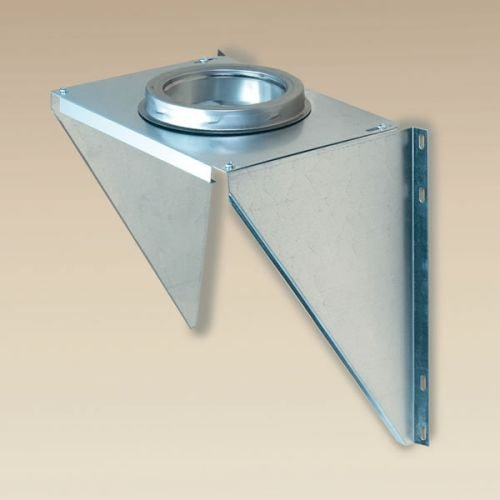 Chimney 77625 6 Inch Superpro Wall Support Galvanized (supports Tee and Vertical Pipe)