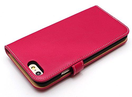 LIM's Design Premium Calf Leather Diary Case for iPhone 6 (Hot Pink)