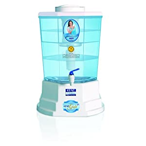 KENT Gold+ 20-litres Gravity Based Water Purifier, White and Blue