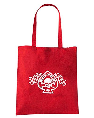 T-Shirtshock - Bolsa de playa de Algodón  Mujer Rojo