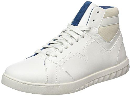 Diesel Herren Stud-v S-Studdzy Lace Mid-Y01590 Sneaker Weiß (Dirty White)