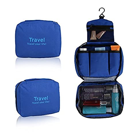 Refoss Hanging Toiletry Bag Travel Organizer Cosmetic Bag for Women Makeup or Men Shaving Kit (Auricolari Mani Auricolare Kit Libero)