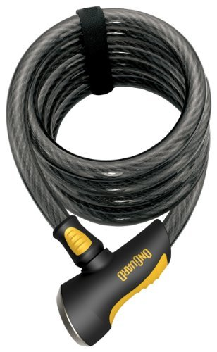 Onguard Doberman Key Coil Cable Lock (Black, 185 cm x 12 mm) by OnGuard