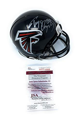 - Tony Gonzalez Atlanta Falcons Signed Autograph Mini Helmet JSA Witnessed Certified