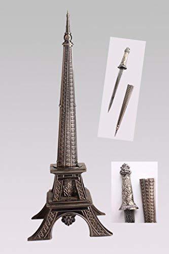 """10"""" Europe France Paris Metallic Eiffel Tower Dagger Knife Sword Letter Opener Desk Room Model"""