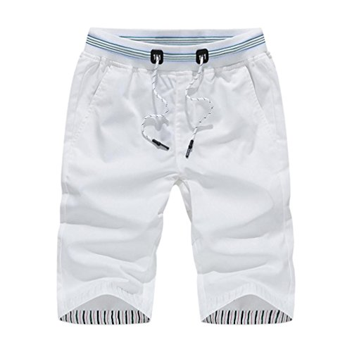 Price comparison product image SNOWSONG Clearance! Mens Shorts Swim Trunks Quick Dry Beach Surfing Running Swimming Water Pants 2018 (White,  3XL)