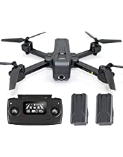 JJRC H73 Foldable RC Drone 2K Motorized Camera FPV GPS 5G WiFi Quadcopter Brushless Motor 800m Distance Barometer, Altitude Hold, Follow Me, 3x Batteries, Optical Flow Positioning, LED Light, One Key Return Elinz