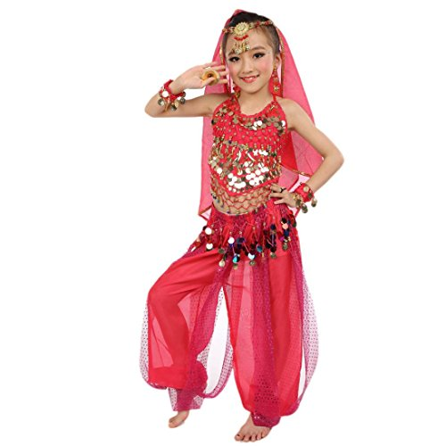 Dance Clothes,Elaco Kids Girl Belly Dance Costumes Kids Belly Dancing Egypt Dance Cloth (S, Hot