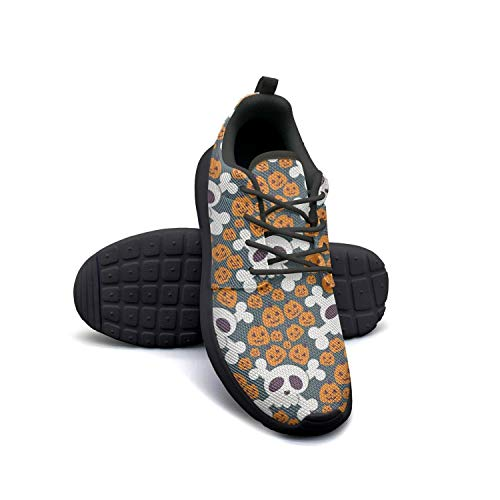 Skull halloween pumpkin black Casual Shoes for Women news Breathable On Running Shoes -